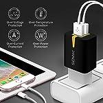 4-Pack-Caricatore-USB-da-Muro-Portatile-a-2-Porte-Caricabatterie-USB-Presa-Adattatore-USB-Universale-da-5V21A-per-iPhone-X-8-7-7Plus-6S-iPad-AirSamsung-Galaxy-S9-S8-S7-Edge-Nexus-HTC-Nero