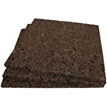 Brown Cork Squares - 12 Inch X 12 Inch X 1/2 Inch Thick - 3 Pack