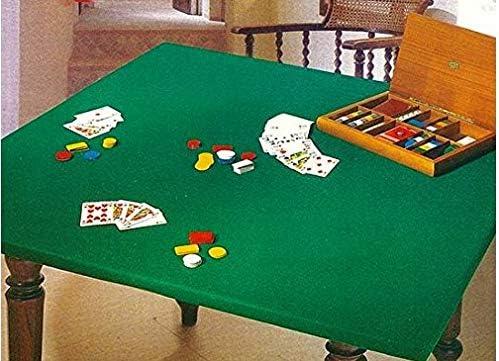 SpazioTessile Tovaglia Copritavolo Mollettone Salvatavolo Feltro Panno Verde Gioco Poker 140x140