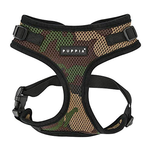 (Puppia Authentic Puppia Ritefit Harness With Adjustable Neck, Camo,)