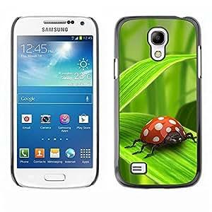 Be Good Phone Accessory // Dura Cáscara cubierta Protectora Caso Carcasa Funda de Protección para Samsung Galaxy S4 Mini i9190 MINI VERSION! // Ladybug Green Leaf