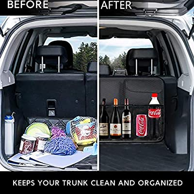 Car Backseat Trunk Organizer, Trunk Organizers Backseat Storage for Car,Truck, SUV, Van Organizers Back Seat Mesh Pockets: Automotive