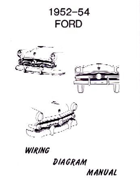 amazon com bishko automotive literature 1952 1953 1954 ford 1954 ford headlight switch wiring