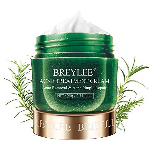 Acne Treatment Cream, BREYLEE Tea Tree Oil Acne Cream for Clearing Severe Acne, Breakout, Remove Pimple and Repair Skin (20ml,0.7oz)