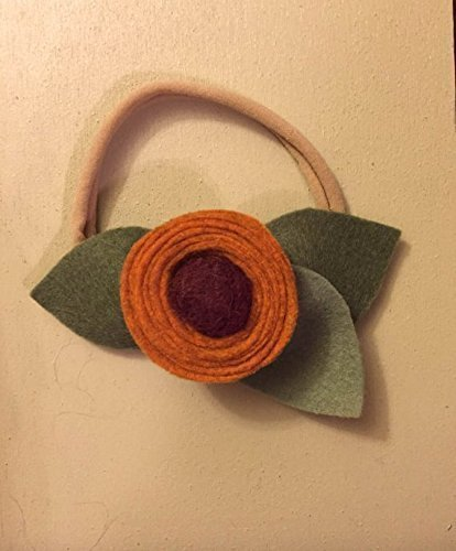 Pumpkin Burgundy Newborn Girl Flower Headband (Halloween Pumpkin Cupcakes Pictures)