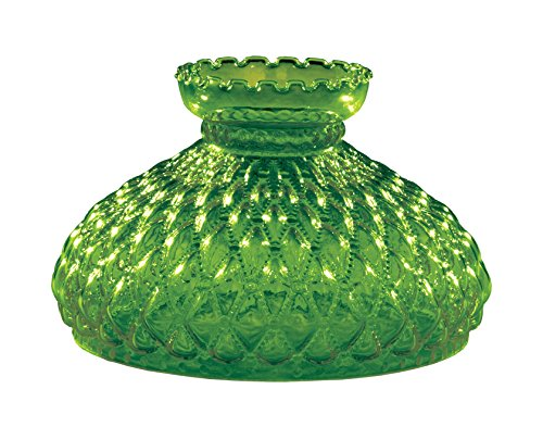 (B&P Lamp 10 Inch Fitter, Dark Green Quilted Lamp Shade)