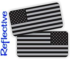 Pair - REFLECTIVE Stealthy American Flag...