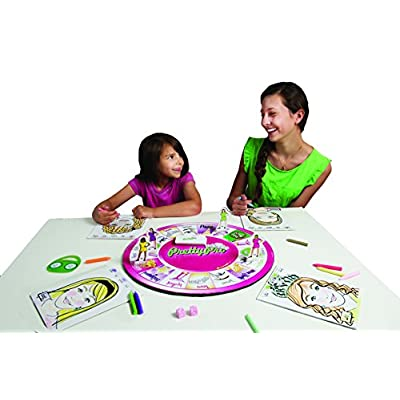 """PrettyPro Game:Unique award winning board game of """"makeup artists"""" who race to the finish & capture the prettyheart tiara while learning an inner beauty message!Best family board games for kids"""