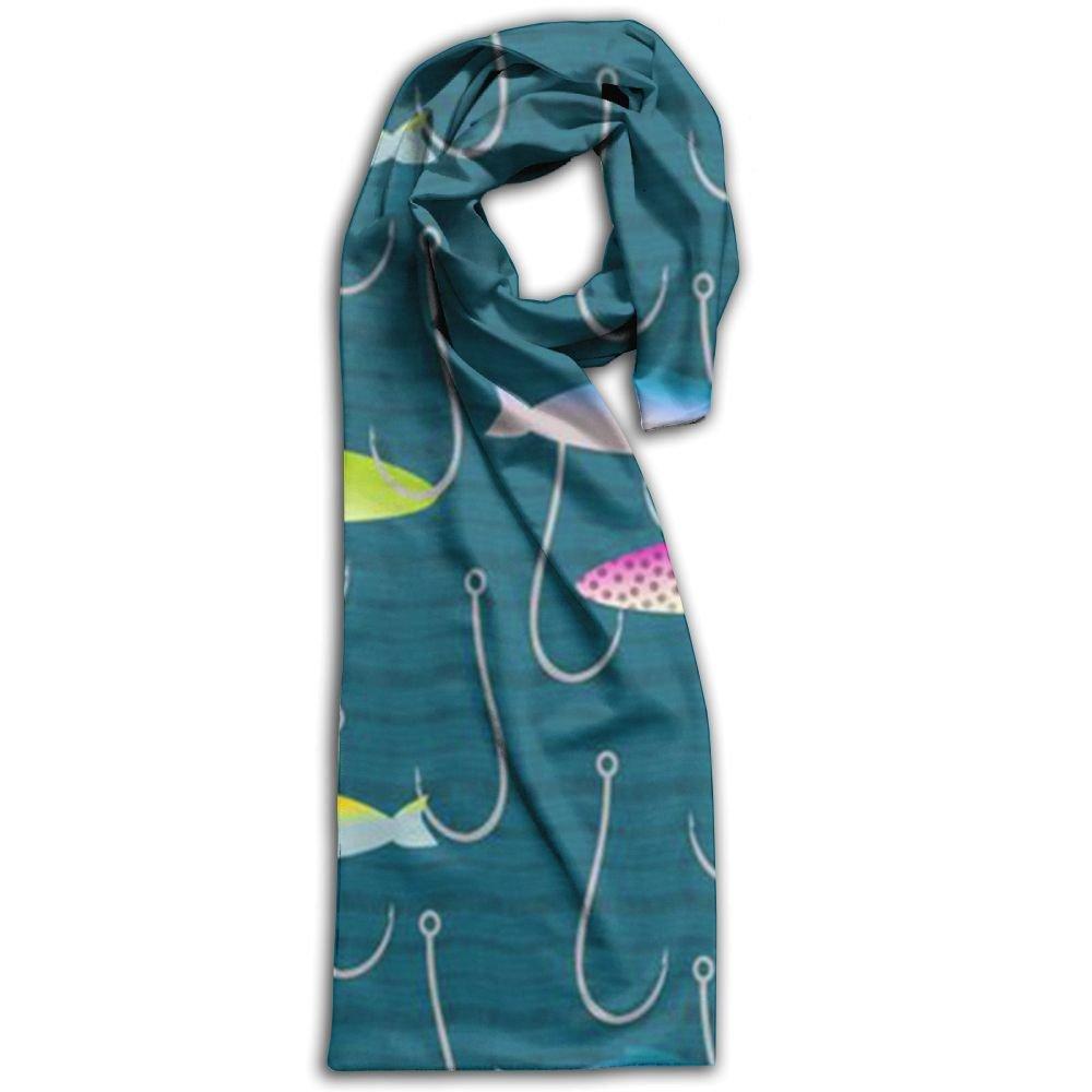 Fishing Lure 100% Polyester Soft Scarves Muffler Fashion Long For Men Gift For Travel