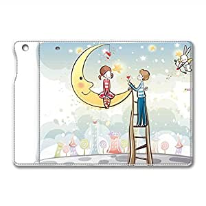 Brain114 iPad Mini Leather Case - Slim Flip Case Cover for iPad Mini Heart Flower Gift - Auto Wake Up/Sleep Function New