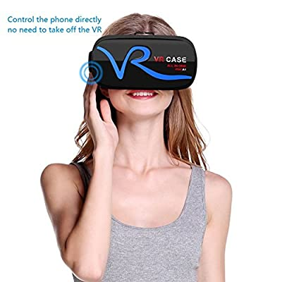 VR Headset Bluetooth Control 3D VR Glasses Virtual Reality Headset for 3D Movies Video Games, Compatible with iPhone 7 Samsung Galaxy Series and Other 4.0-6.0 Inch Smartphone