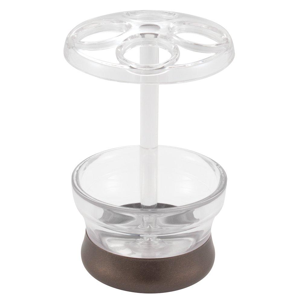 InterDesign Aris Soap & Lotion Dispenser, for Kitchen or Bathroom Countertops - Clear/Bronze Inc. 02371L