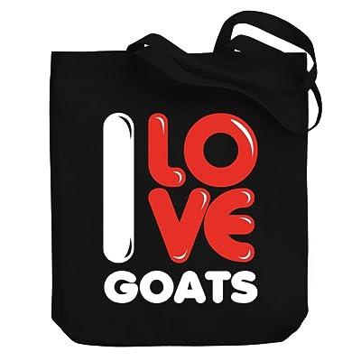 Teeburon I love Goats Canvas Tote Bag