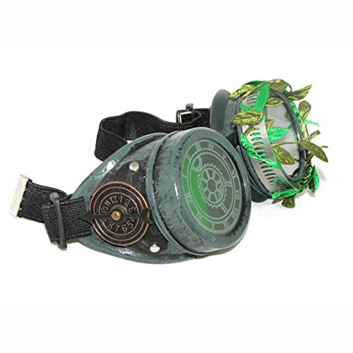 [Steampunk Poison Ivy Green Goggles Cosplay Costume] (Gotham Costumes)