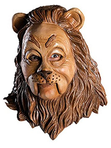 Rubie's 68225 Costume Co Wizard of Oz Deluxe Latex Mask, Cowardly Lion, One Size, -