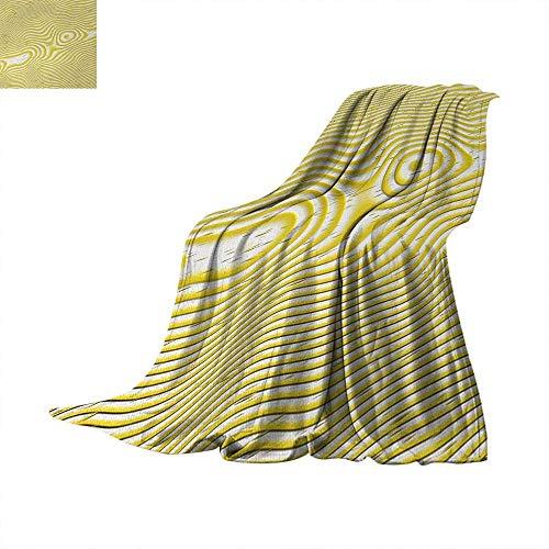 Abstract Super Soft Lightweight Blanket Trippy Spiral Wavy Inner Circle Round Stripes Minimalist Modern Illustration Summer Quilt Comforter 60