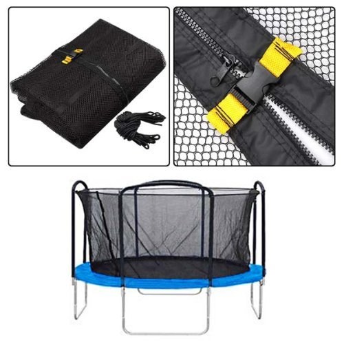 15 Trampoline 8 Pole Foam Safety Enclosure Net Replacement