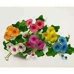The-Best-Buy-Set-of-6-Dollhouse-Miniature-Fariy-Garden-Blank-Colorful-Morning-Glory-Flower