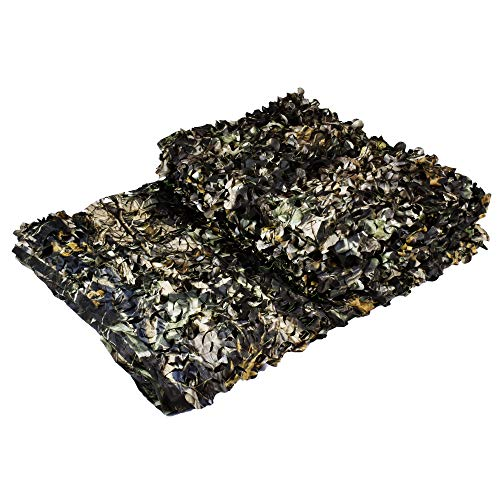 (LOOGU Camo Netting Custom Maple Leaf Bionic Camping Military Hunting Camouflage Net - Withered Yellow, 6.5 x 10 Feet )