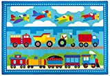 Wildkin Olive Kids Trains, Planes, Trucks 5x7 Rug