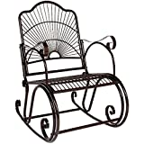 Patio Scroll Porch Rocking Chair Outdoor Deck Seat Antique Style Backyard Glider