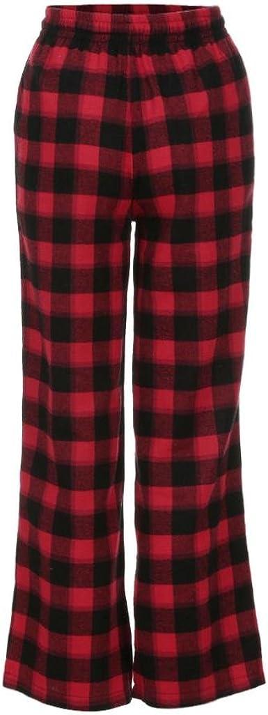 Dress Start Pantalones Flojos De La Alta Costura De La Tela Escocesa A Cuadros De Las Mujeres Pantalones De Cintura Alta De Los Pantalones L Rojo Amazon Es Ropa Y Accesorios