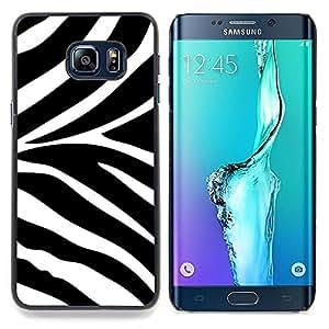 """S-type Modelo blanco Negro Animal África"""" - Arte & diseño plástico duro Fundas Cover Cubre Hard Case Cover For Samsung Galaxy S6 Edge Plus / S6 Edge+ G928"""