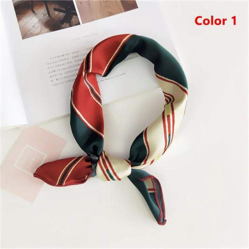 Victoria's Express Popular Sale!!! New Elegant Women Square Silk Head Neck Feel Satin Scarf Skinny Retro Hair Tie Band Small Fashion Square Scarf