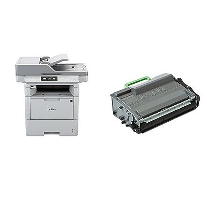 Brother DCP-L6600DW - Impresora multifunción láser monocromo (520 hojas, 40 ppm, USB 2.0, Wifi) + Brother TN3480 - Tóner negro (8.000 páginas según ...