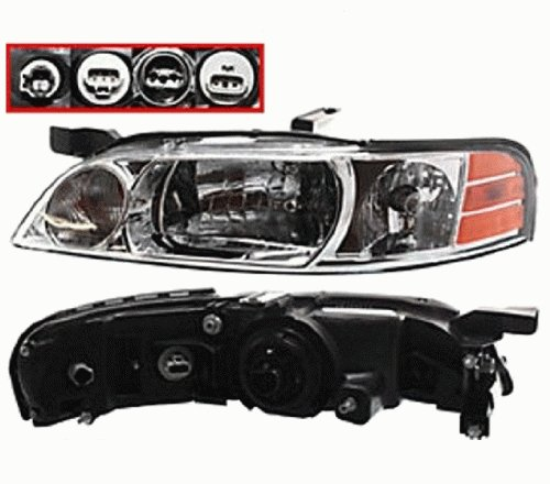 Discount Starter and Alternator NI2502126 Nissan Altima Driver Side Replacement Headlight Plastic Lens With Bulbs (Gxe Altima Headlight Headlamp Xe)