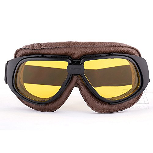 New Style Motorcycle Retro Vintage Aviator Pilot Bikes Racing Goggles Glasses - Vintage Rims Style