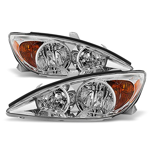 ACANII - For 2002 2003 2004 Toyota Camry Headlights Headlamps Replacement Lamp Driver + Passenger Side