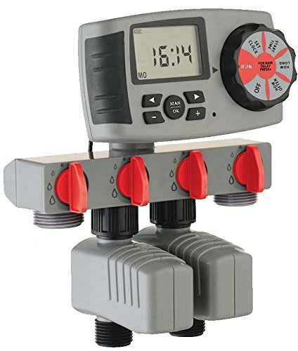 RAINWAVE RW-74ZWT-2 4 Zone Water Timer Complete Kit by Rainwave