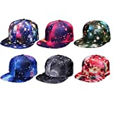 Digital baby Galaxy Baseball Cap Women Men Star Night Summer Outdoor Shading Hat Dancing Cool Hip-hop(Black,one Size)