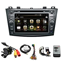 TLTek 8 inch HD 1024*600 Muti-touch Screen Car GPS Navigation System For Mazda 3 2010-2013 Android DVD Player+Backup Camera+North America Map