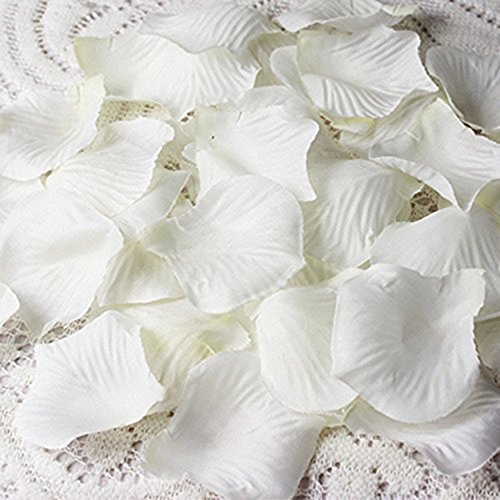 Cozyswan 4000 Silk Rose Petal ivory white Wedding Decorations Petals Artificial Petals