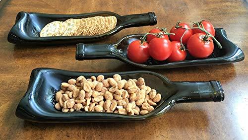 California Winery - Ravenswood Zinfandel wine bottle (1) - gently slumped into a bowl or spoon rest ()