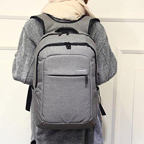 Bolso Kukul Las mujeres los hombres de la moda de viaje bolsa de la escuela satchel mochila bolsa de ordenador portátil (Negro) Gris