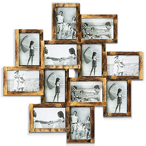 Hello Laura - Photo Frame Picture Frame Family Friends Union Together L24 x H24 Gallery Collage Wall Hanging Photo Frame for 6
