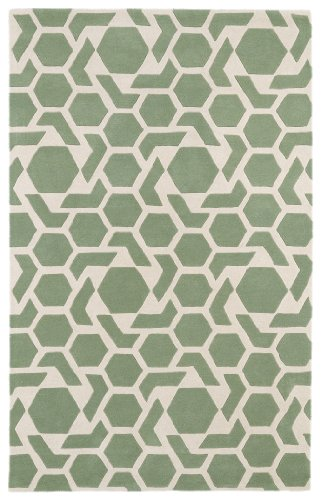 Mint Contemporary Rug - Revolution Collection Hand Tufted Mint Rug (5' x 7'9