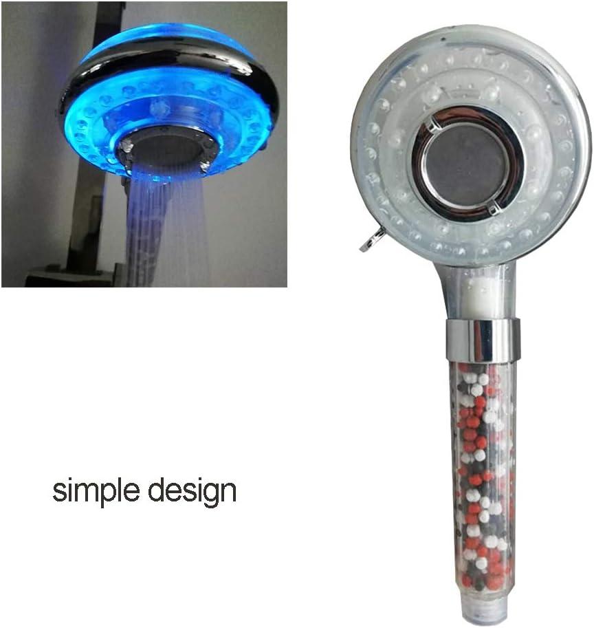 Pomme de douche /à LED color/ée Alternance douche lumineuse t/ête r/églable t/ête darrosage Bain Douche Douche Salle de bain Accessoires dauto-d/écoloration color/ée