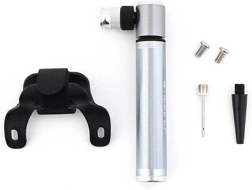 Portable Air Inflator Fits Presta and Schrader Accurate Inflation with Mount Kit Dilwe Bicycle Pump