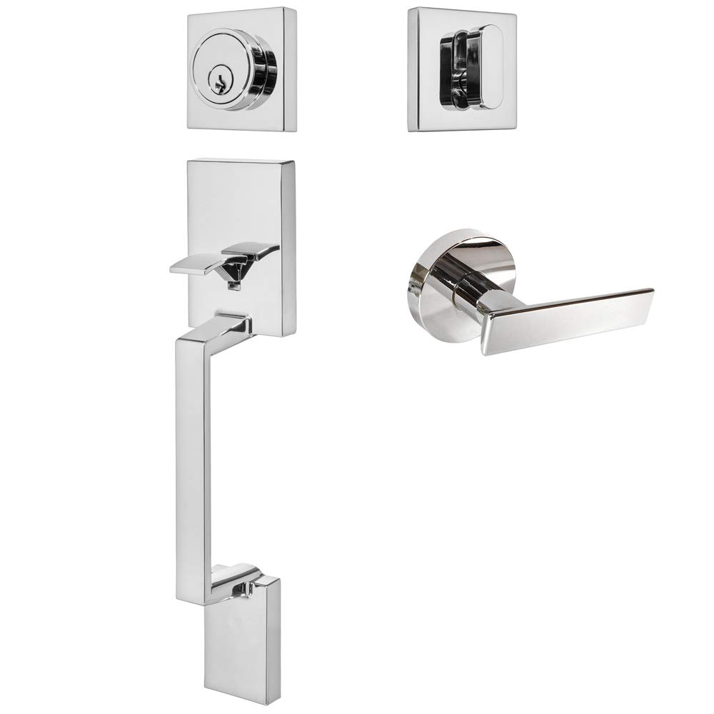 Non- Functioning Designers Impressions Laurel Design Contemporary Polished Chome Dummy Euro Door Lever Hardware