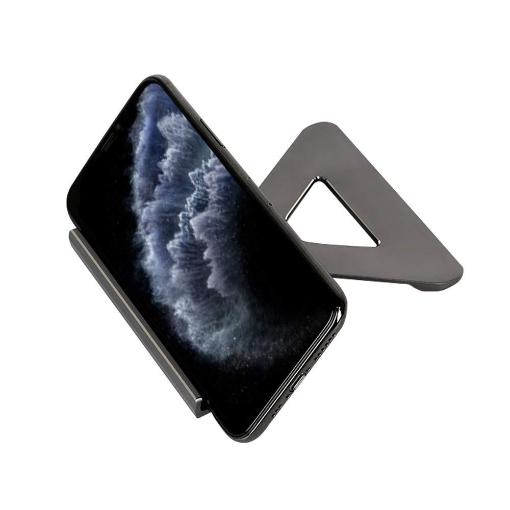 LucaSng Soporte móvil Mesa teléfono,para iPhone,Samsung,iPad,Huawei,HTC Motorola y Todas Tablete,Universal Soporte Smartphone para Teléfonos Aluminio,Negro