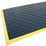 Rhino Mats CCD2436 Comfort Craft Diamond Workshop Mat, 2' Width x 3' Length x 3/4'' Thickness, Solid Black