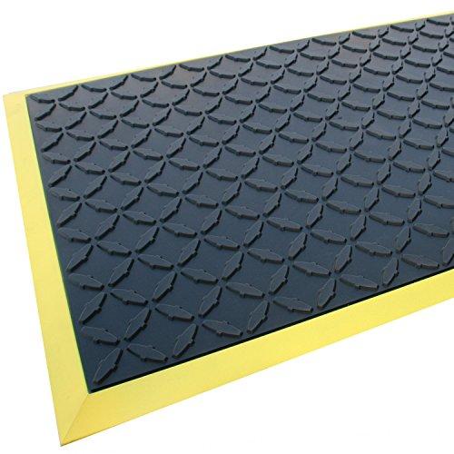 "Rhino Mats CCD2436 Comfort Craft Diamond Workshop Mat, 2' Width x 3' Length x 3/4"" Thickness, Solid Black"