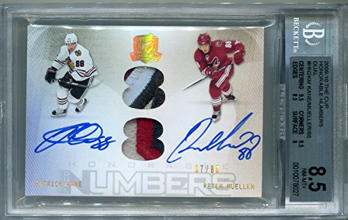 (Patrick Kane - Chicago Blackhawks/Peter Mueller BGS Certified Autograph - 2009 Upper Deck The Cup (Autographed Hockey Cards))