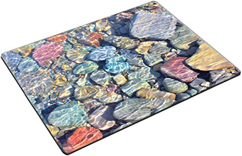 - MSD Place Mat Non-Slip Natural Rubber Desk Pads design 18985871 ll Colorful rocks under the water of McDonald Creek in Glacier National Park Montana