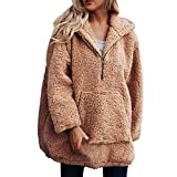 Clearance Womens Coat Cinsanong Winter Warm Hooded Sweatshirt Zipper Parka Artificial Wool Outerwear Clothes