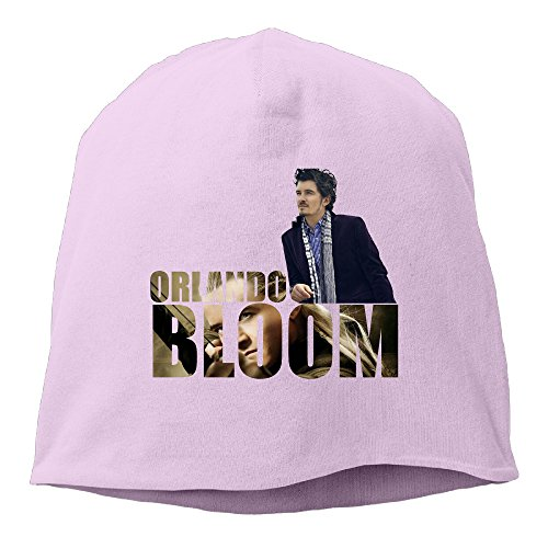 [Caromn Orlando Bloom Poster Beanies Skull Ski Cap Hat Pink] (Main Street Dance Costumes)